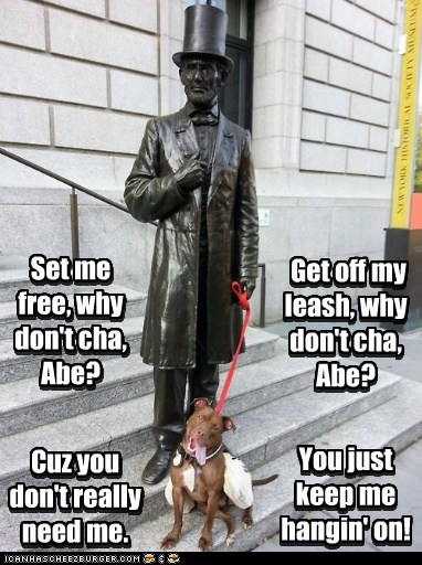 abraham lincoln,pitbull,dogs