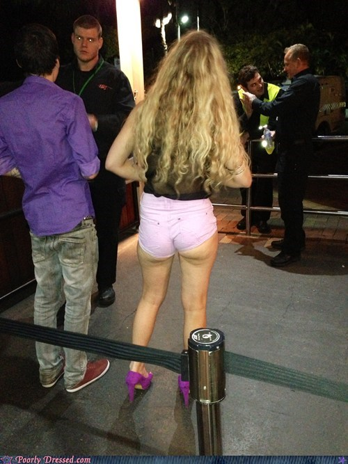 short shorts,high heels,mesh