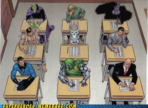 genius exam art dr doom reed richards lex luthor - 6689459712