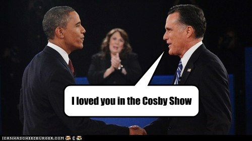 compliment,the cosby show,Mitt Romney,debate,confused,barack obama