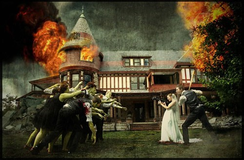 zombie,zombie wedding,photoshop