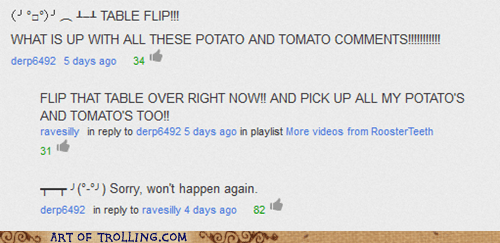 comments table flip youtube - 6691185920
