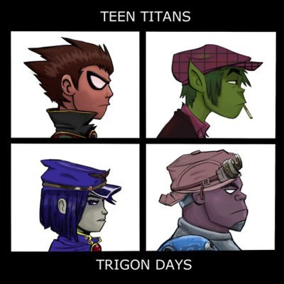 teen titans,Gorillaz,Music,art