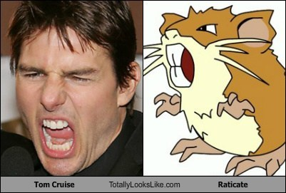 funny,TLL,actor,celeb,Tom Cruise,raticate,Pokémon