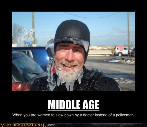 middle age police doctors slow down