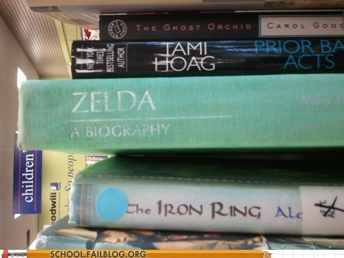bargain books,zelda,her side,video games
