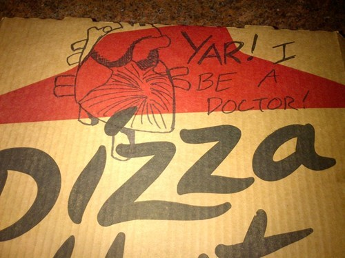pizza hut pizza box pizza box art hearts - 6692053248