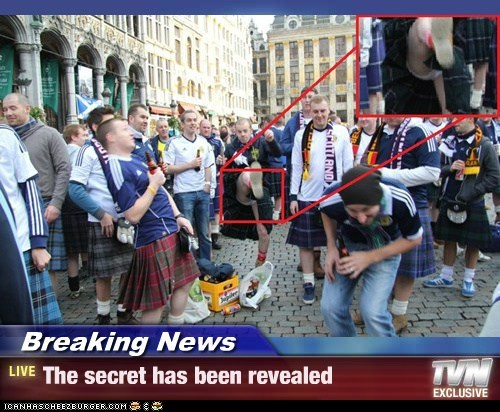 Breaking News - The secret has been revealed