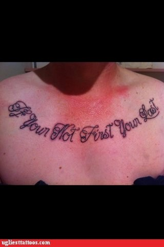 misspelled tattoos expressions talladega nights g rated Ugliest Tattoos