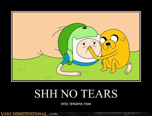 adventure time,Jake,finn,tears,dreams
