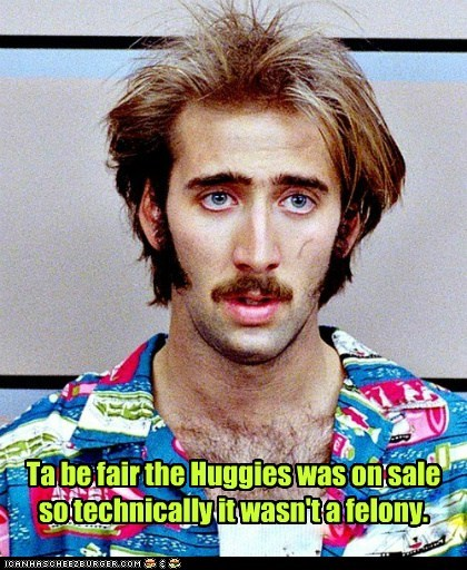 raising arizona stealing diapers Movie huggies felony nicolas cage