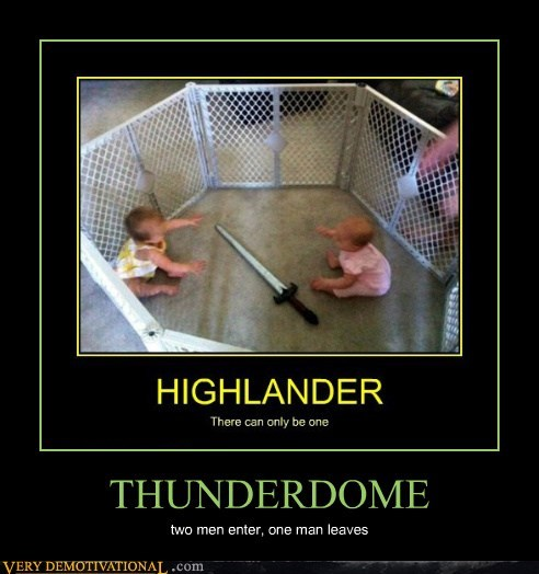 THUNDERDOME two men enter, one man leaves