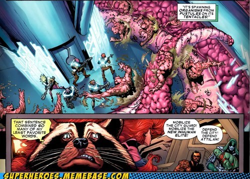 tentacles pustules eww off the page rocket raccoon - 6692958720