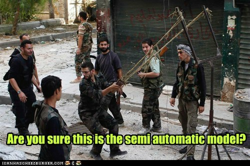 are you sure semi-automatic fire modle syrian slingshot