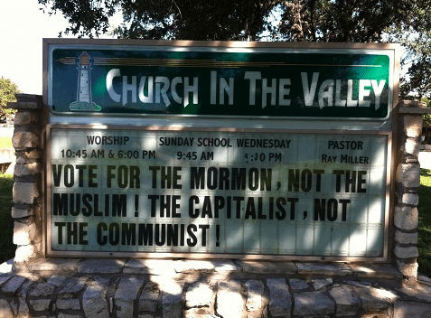 church signs election 2012 barack obama Mitt Romney - 6693352704