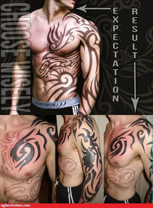 tribal tattoos,expectations vs reality,good vs bad tattoos