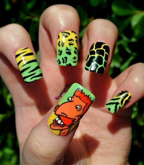 The Wild Thornberrys,nail art,cartoons