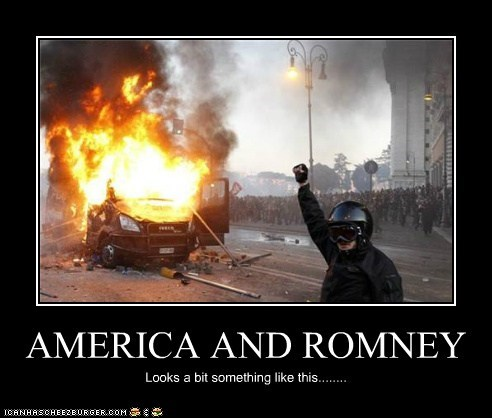 AMERICA AND ROMNEY Looks a bit something like this........