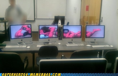 deadpool computers monitor sexy - 6693979904