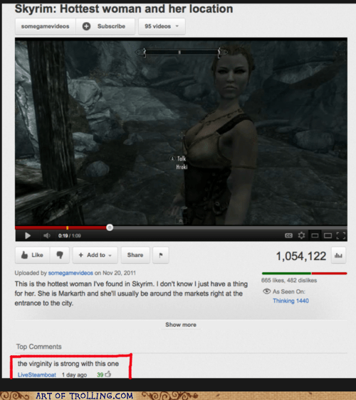 Skyrim youtube virginity - 6694672896