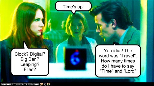 time karen gillan box guessing doctor who amy pond time travel the doctor matt smith clock