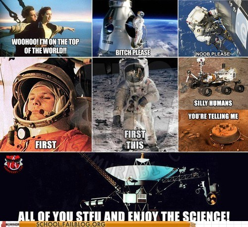 hell yeah enjoy the science space bragging