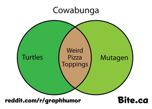 ninja turtles,venn diagram,TV,cowabunga