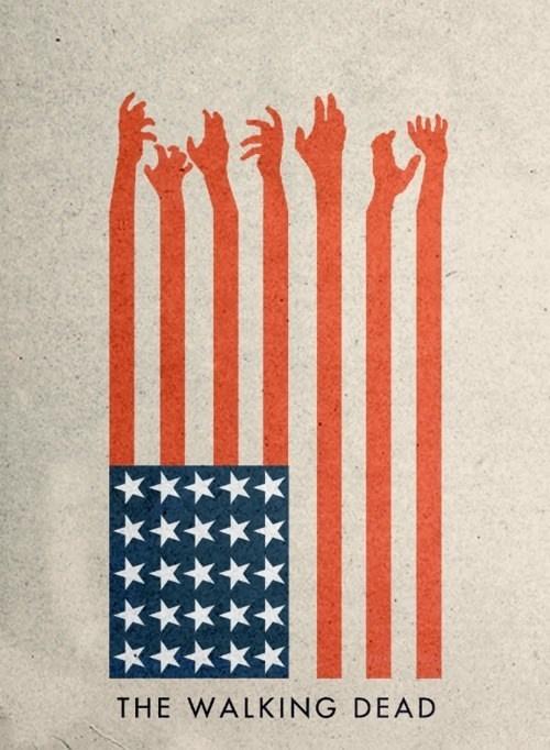 TV amc poster The Walking Dead minimalist - 6695326208