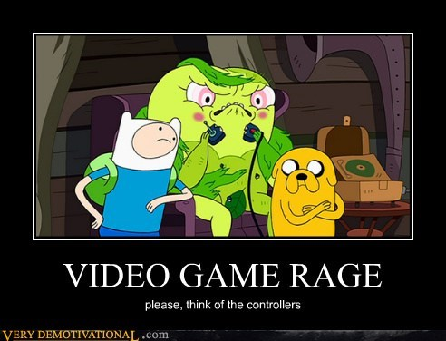 video games rage controllers adventure time