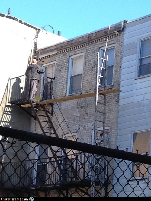 scaffolding ladder construction plank painting - 6695412480