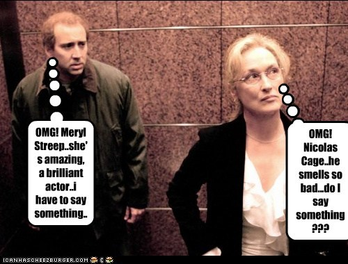 funny,actor,celeb,nic cage,nicolas cage,Meryl Streep