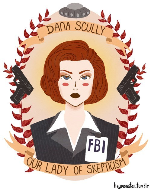 art illustration TV the x-files x files gillian anderson - 6695580672