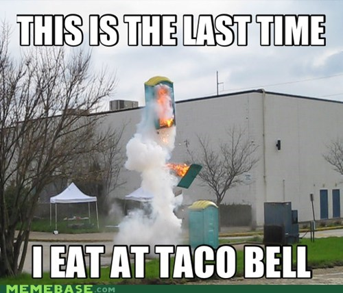 taco bell portapotty fire rocket to the moon - 6695670784