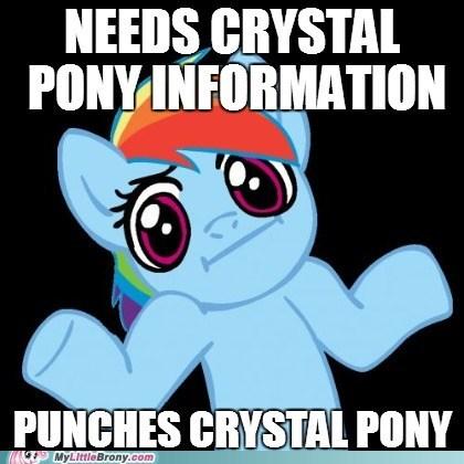rainbow dash crystal ponies meme - 6695679488