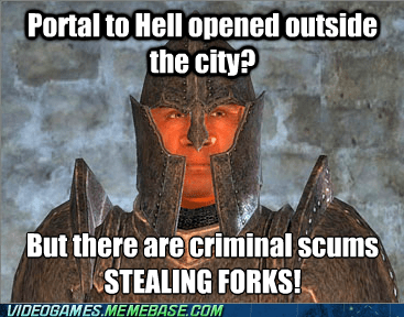forks,oblivion,guards