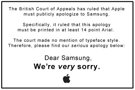 apple,Samsung,lawsuit,public apology,british court of appeals,uk high court,high court of justice