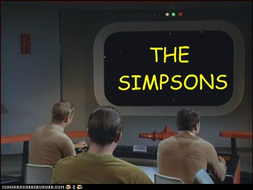 funny TV Star Trek the simpsons - 6695841024