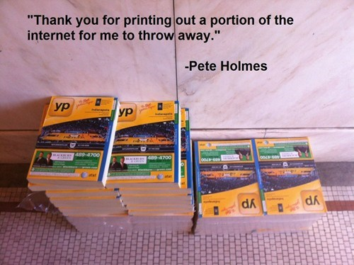 pete holmes phone books obsolete the internet - 6695969024