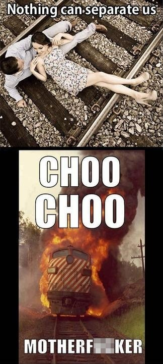 seperation,hipsters,choo choo,flaming