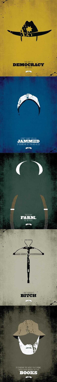 The Walking Dead posters minimalism zombie Rick Grimes lori grimes Glenn Rhee hershel greene Dale Horvath