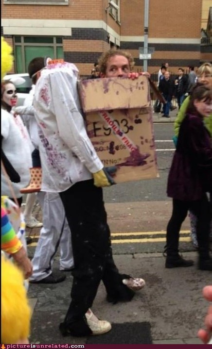 halloween costume head in a box - 6696069888
