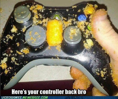 cheetos,controller,Sad,xbox,ruined,bad friends