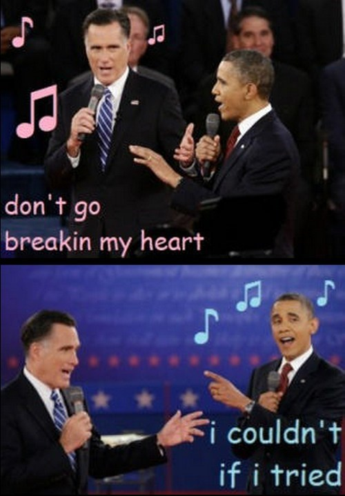 Mitt Romney,barack obama,singing,debate,duet,karaoke
