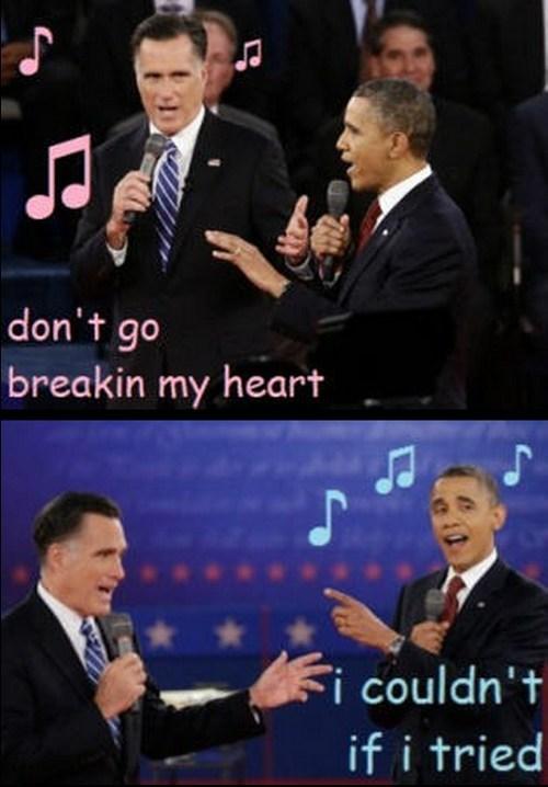 Mitt Romney barack obama singing debate duet karaoke - 6696152832