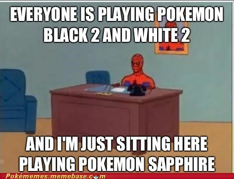meme,Spider-Man,new game,pokemon sapphire