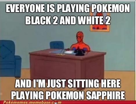 meme Spider-Man new game pokemon sapphire - 6696157184