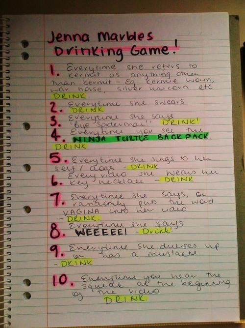 drinking games jenna marbles - 6696160256