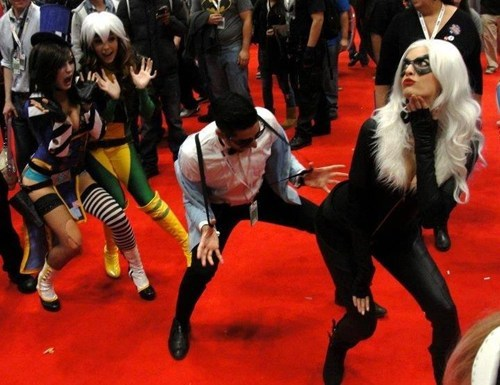gangnam style,cosplay,moxxi,rogue,black cat
