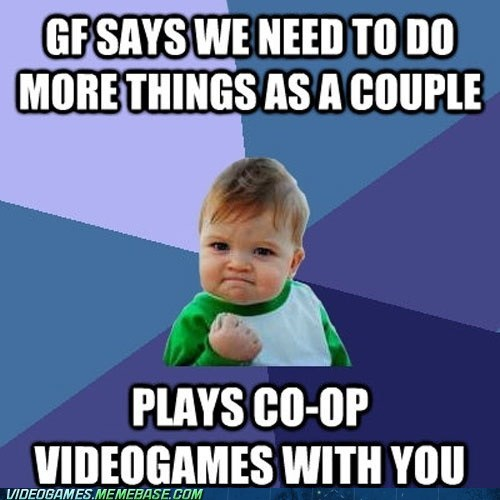 success meme gamers couple