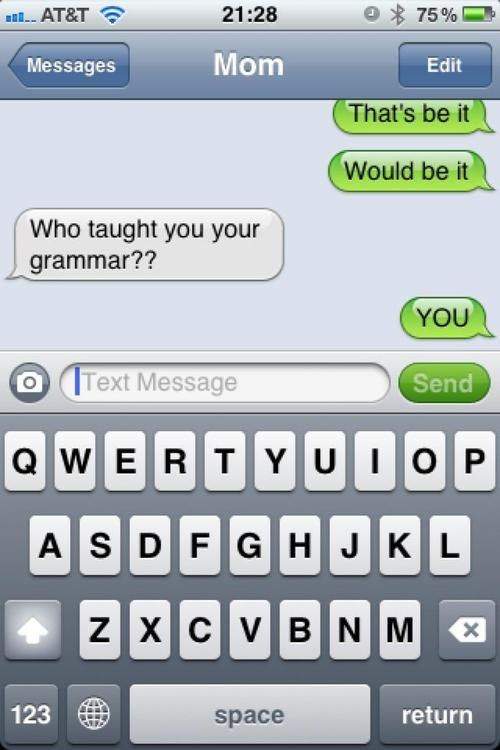 iPhones grammar i learned it from you - 6696334592